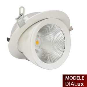 Spot LED encastré rond orientable «escargot»
